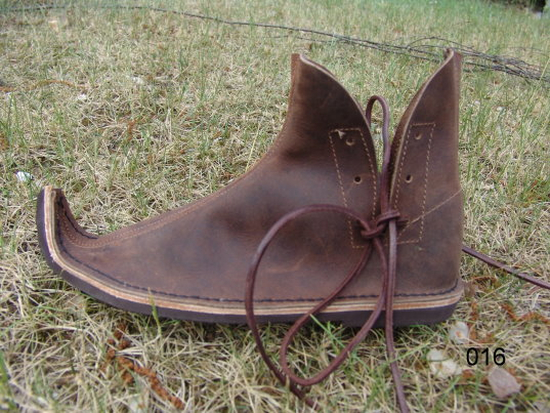 016 Nubuck leather beak shoe - brown