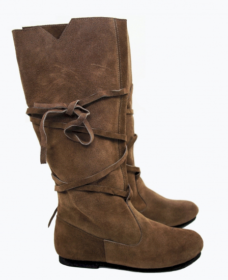 019 Medieval suede boots- brown