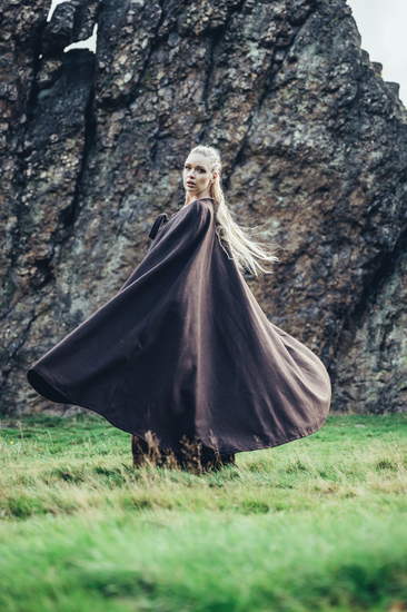 Medieval cape without hood Kuno Brown