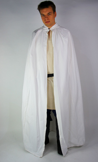 Medieval cotton cape Gunnar White