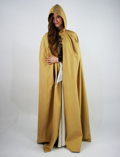 medieval cotton cape Gunnar Honey brown