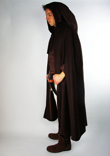 Wool cape with arm slits Frank Black