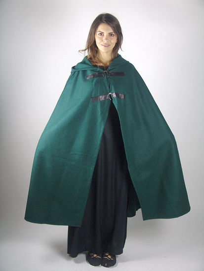 Medieval ladys cape Lisa Green
