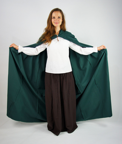 Medieval cotton cape Gunnar Green