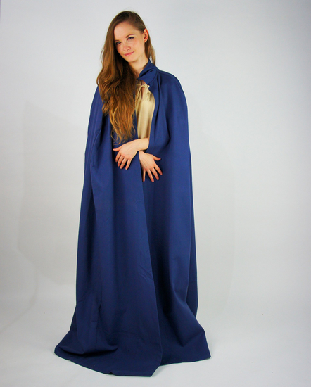 Medieval cotton cape Gunnar Blue