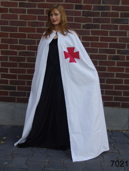 Cape of the Knights Templar Baldwin White/Red