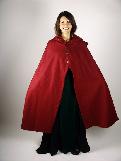 Medieval lady cape Heidi Red