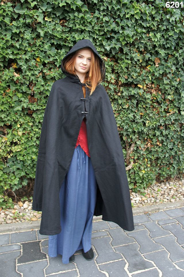 Ladies cape with long buttons Marie Black