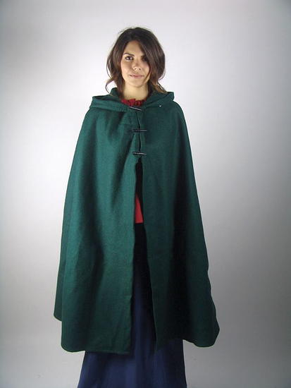 Ladies cape with long buttons Marie Green