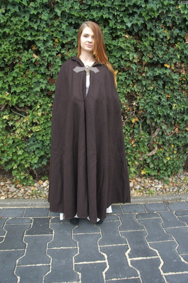 Wool cape Skull with skull clasp length 160 cm