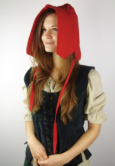 Medieval bonnet Claire Red
