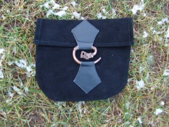 Leather belt bag with dragon buckle Will Black