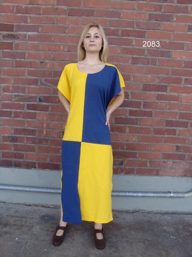 Tunic Chessboard yellow/blue
