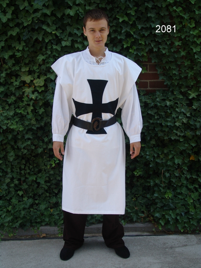 Tunic of the Knights Templar white/black