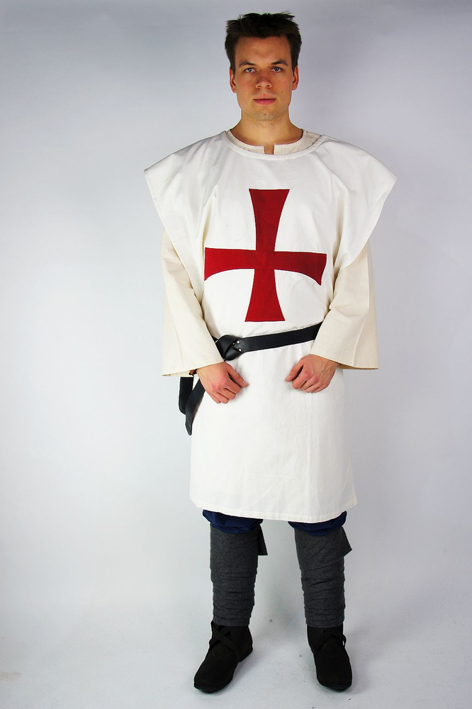 Tunic of the Knights Templar white/Red
