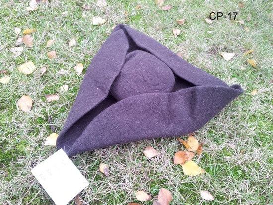 Wool felt hat tricorn Hugo brown