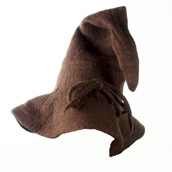 Wizard wool hat Merlin Brown