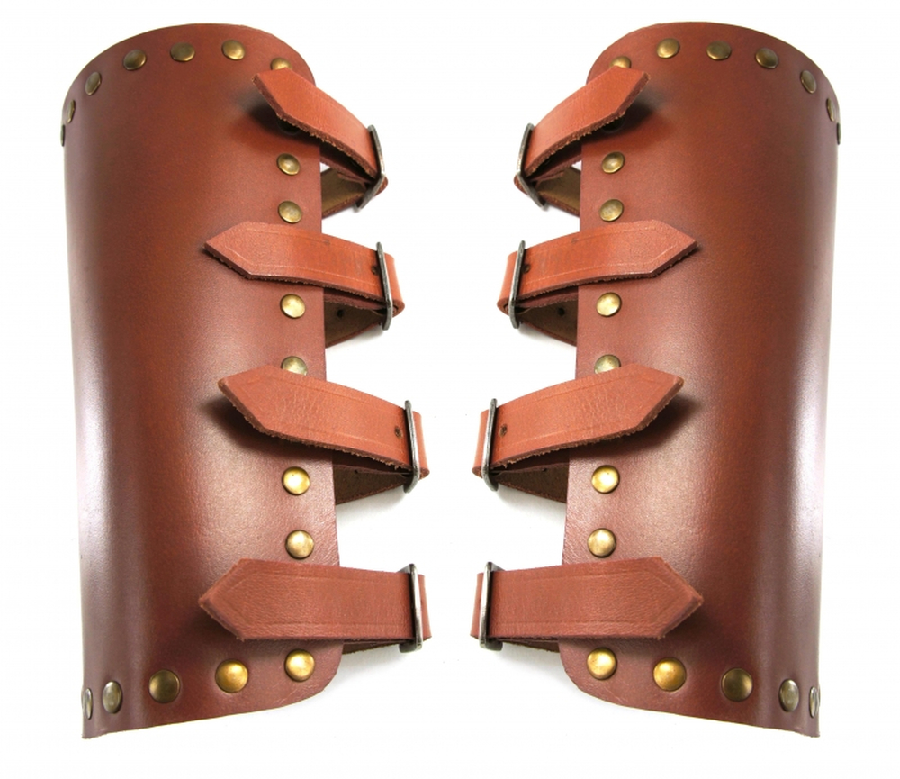 1257 Leather bracer Mar - brown
