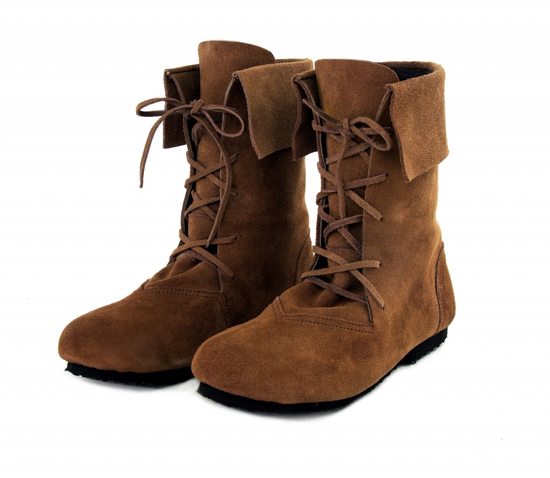 074 Medieval boots Aurin with cuff - brown