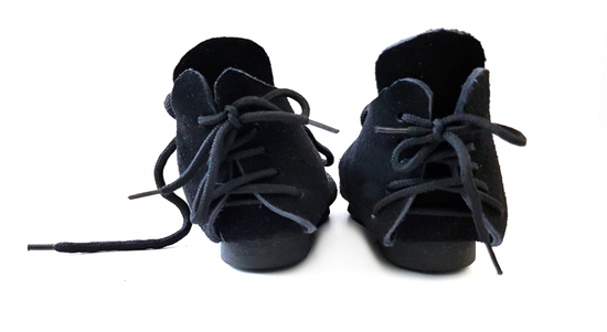 002 Childrens suede shoes - black