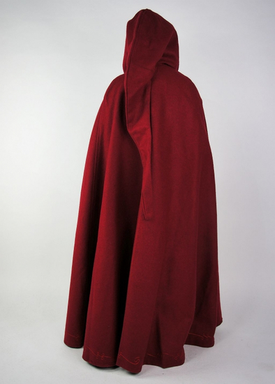 16013 Childrens wool cape with hand embroidery