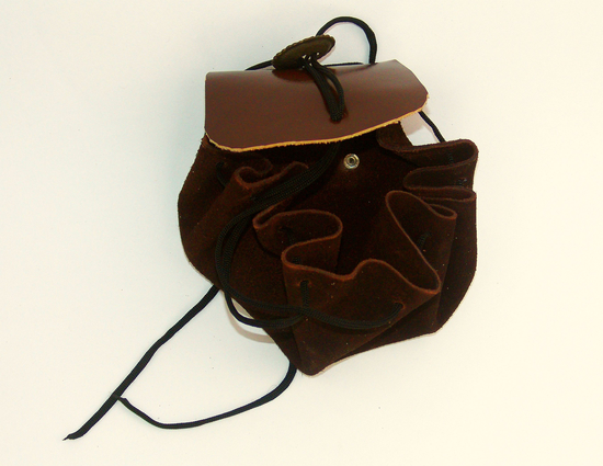 Leather pouch Renate Brown