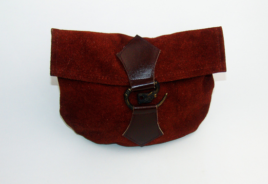 Leather belt pouch with dragon buckle Will Brown
