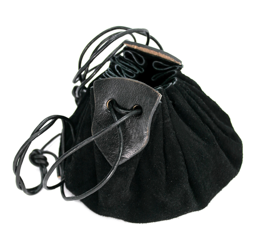 Leather bag Hug made of suede black