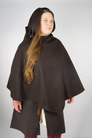 Viking Gugel Egill with embroidery brown