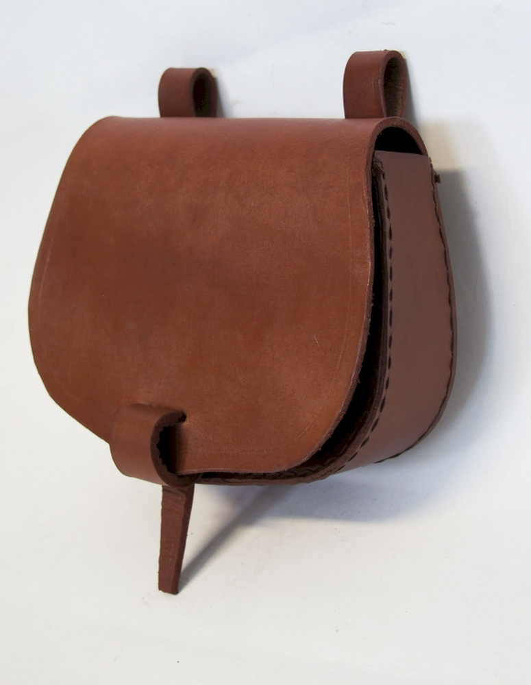 Leather belt bag Nora Brown