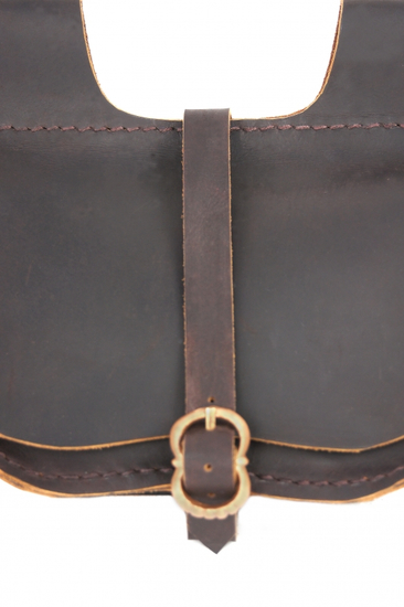 3014 Leather belt bag Udo- Dark brown
