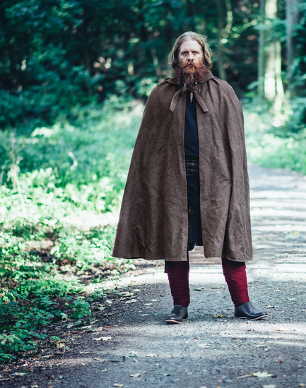 Cotton cape Frantz Brown