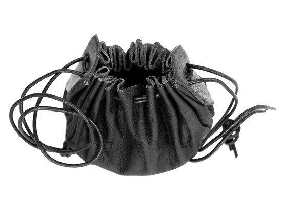 Leather pouch Odo in cowhide leather black