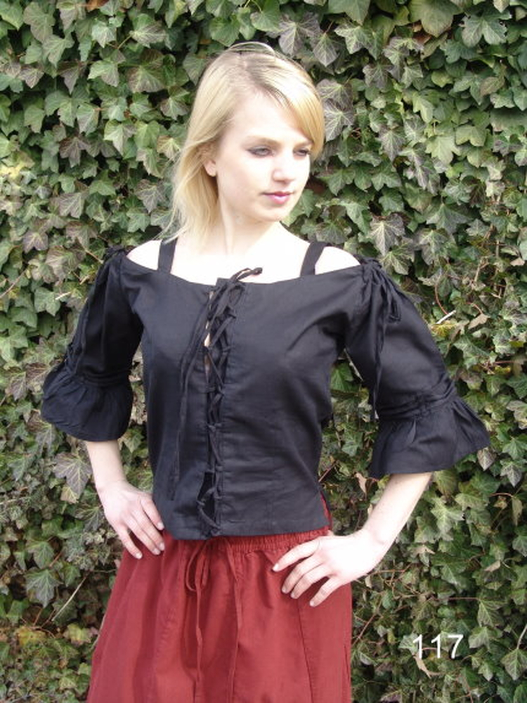 Strapped blouse Prina Black