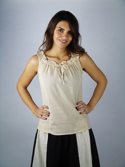 Sleeveless summer blouse Adele Hemp