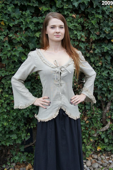 Blouse with lace Grete Hemp