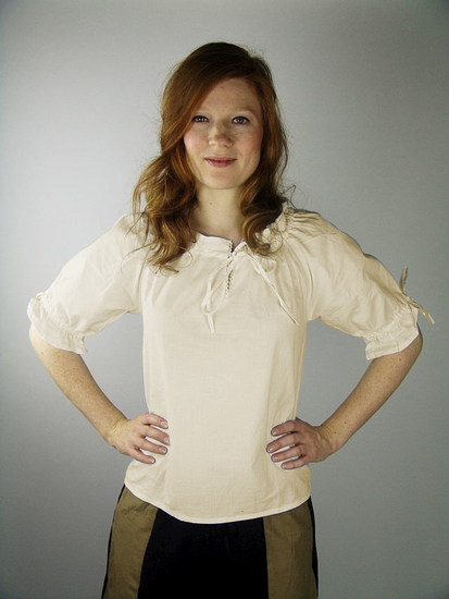 Medieval short sleeve blouse Sandra Natural