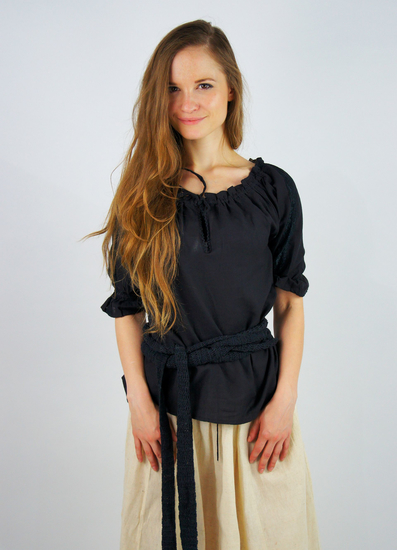 Medieval short sleeve blouse Sandra Black