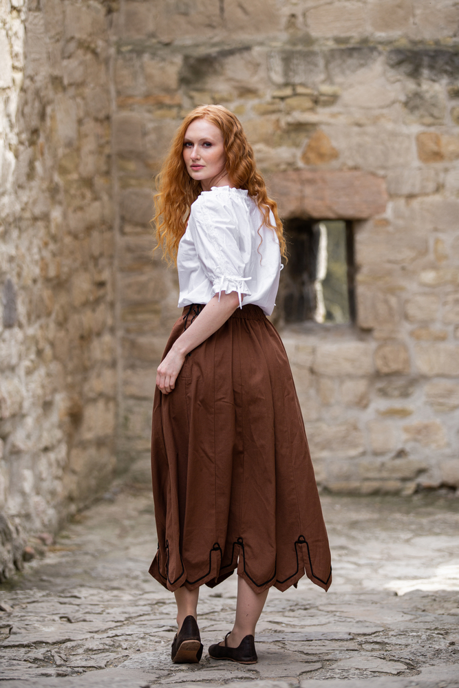 Medieval short sleeve blouse Sandra White