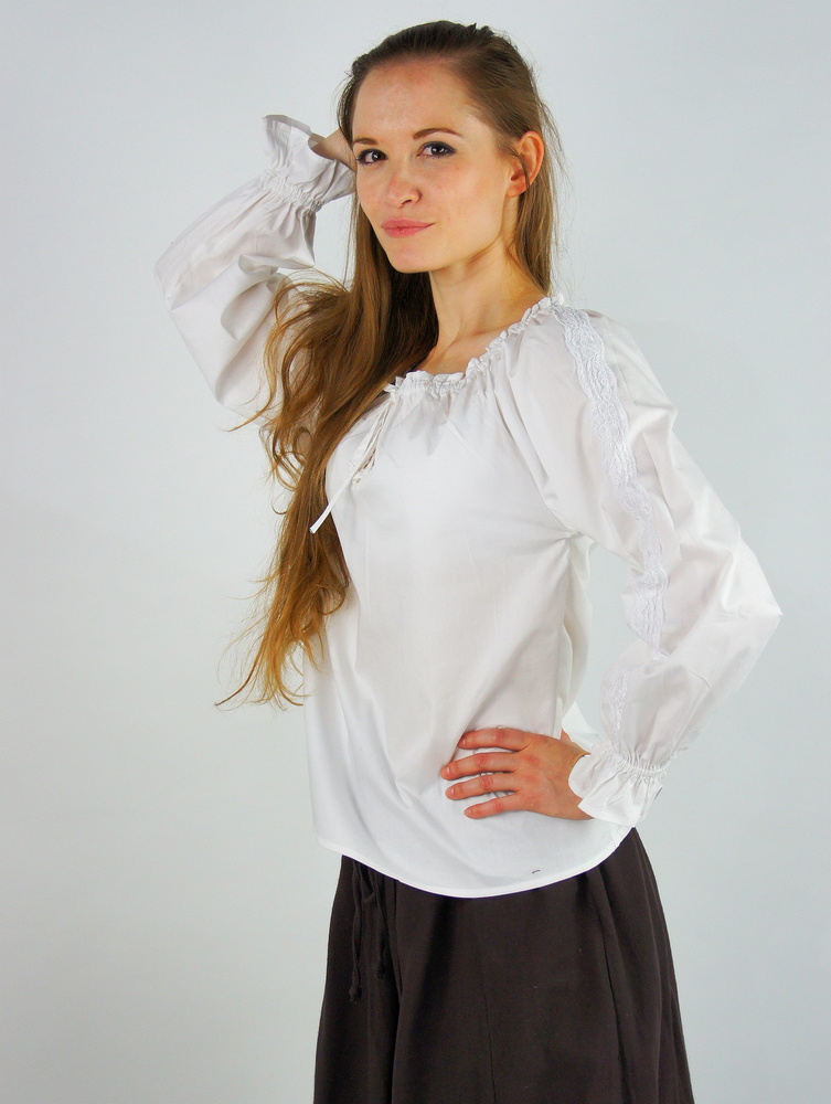 Medieval blouse with lace Bettina White