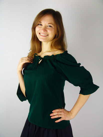 Medieval short sleeve blouse Vera Green