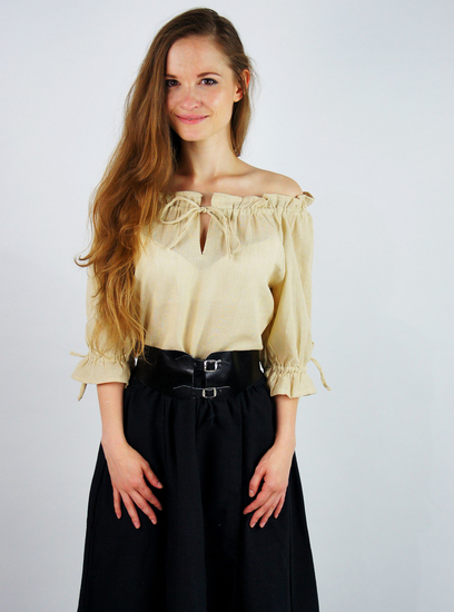 Medieval short sleeve blouse Vera Hemp