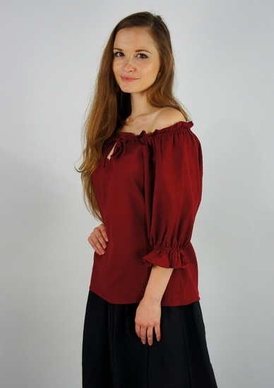 Medieval short sleeve blouse Vera Red