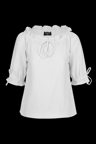 Medieval short sleeve blouse Vera White