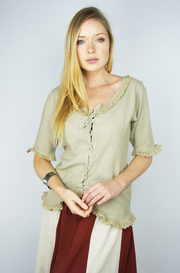 short sleeve blouse Gabriela hemp