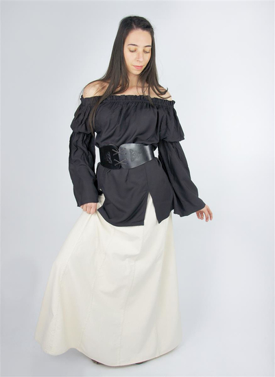 Classic medieval blouse Emma Black