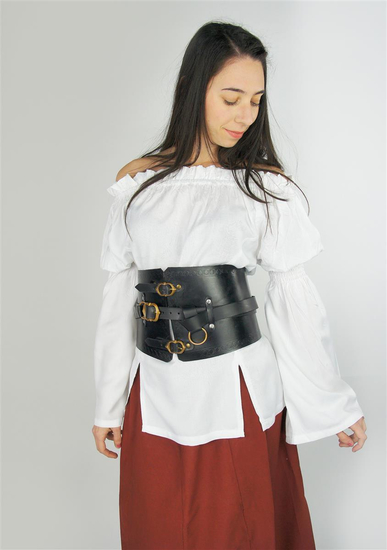 Classic medieval blouse Emma White