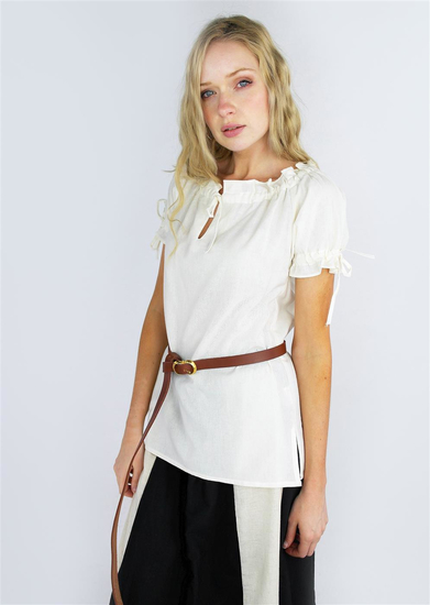 Medieval short sleeve blouse Otilia White