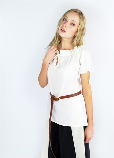 Medieval short sleeve blouse Otilia Natural