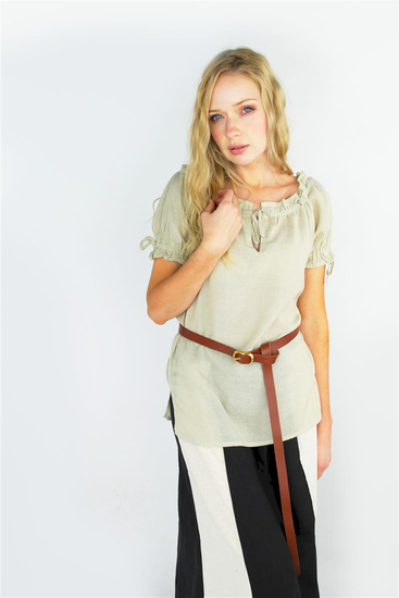 Medieval short sleeve blouse Otilia Hemp